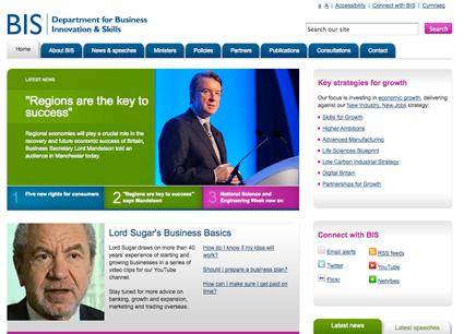 New BIS website homepage